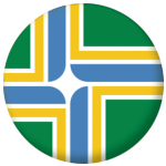 Portland (Oregon) Flag 58mm Fridge Magnet